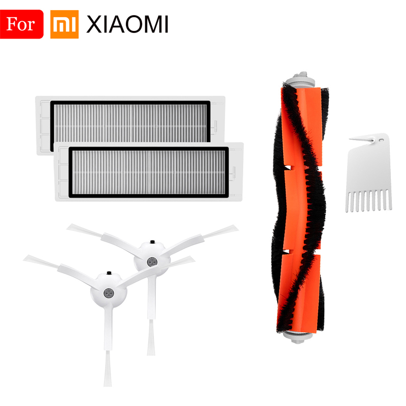 For Xiaomi Mijia Roborock Vacuum Cleaner Accessories With Invisible Wall Side Brush Washable HEPA Filter Main Brush Spare Parts