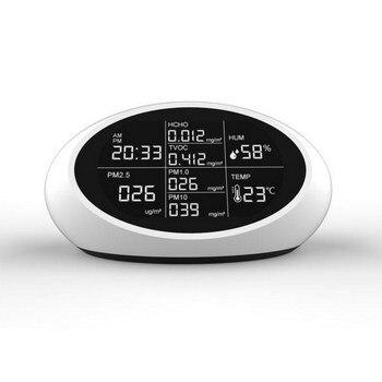 DM605 Smog Dust Formaldehyde Detector HCHO PM2.5 English Version USB Charging Beep Alarm Smart Digital Display