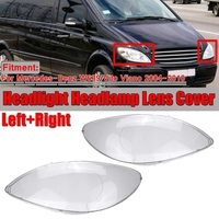 Car Clear Headlight Lens Cover Replacement Headlight Headlight Shell Cover for Mercedes Benz W639 Vito Viano 2004 2010