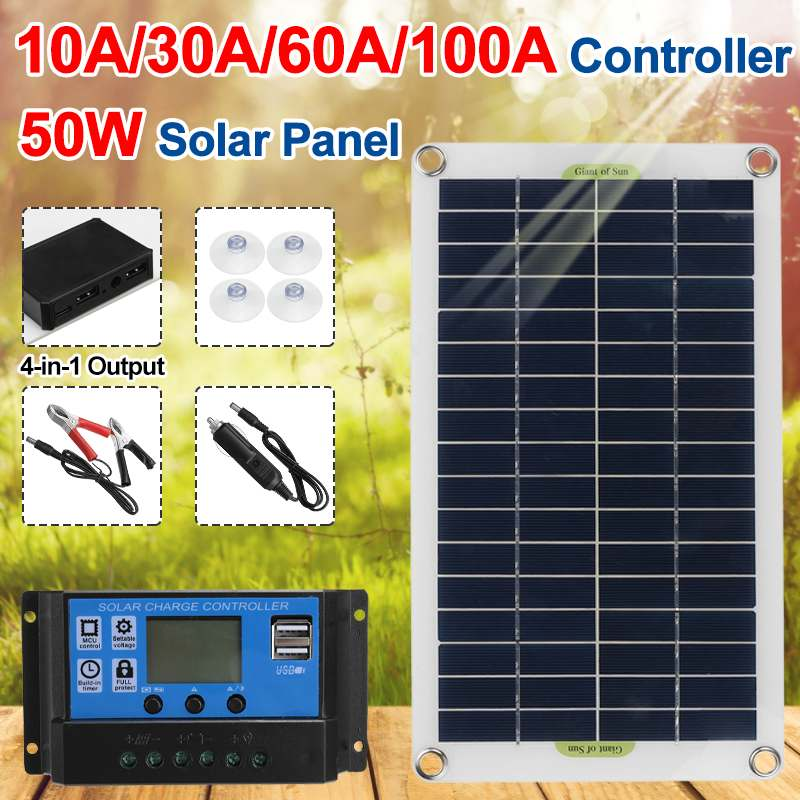 12V Car Camping Boat Battery Charger Solar Panel System Module Charger Cell J1W4