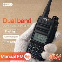 KSUN 8W VHF UHF iki yönlü telsiz telsiz telsiz radyo istasyonu radyo Comunicador jambon radyo walkie talkie 10 km