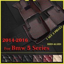 รถสำหรับ BMW 5 Series F10 520i 528i 535i 2014 2015 2016 Custom Auto แผ่นรถยนต์พรมฝาครอบ