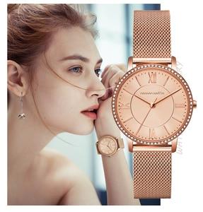 Image 3 - Relojes de pulsera con diamantes de imitación para mujer, de cuarzo japonés, informal, femenino