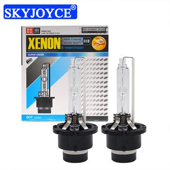 SKYJOYCE 2 sztuk 35W D2S D2R D4R D4S ksenonowe żarówki HID 4300K 5000K 8000K 10000K 6000K 55W D2 D4 żarówka do wymiany reflektorów samochodowych lampa tanie i dobre opinie 12 v 35W 55W D2S D2R D4S D4R HID Xenon Bulb 55W xenon bulb d2s hid bulb d4s hid bulb d2s 4300k bulb 8000k d2s d2s 5000k
