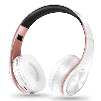 HIFI Stereo Earphones Bluetooth Headphone Music Headset FM and Support SD Card with Mic for Mobile Xiaomi Iphone Sumsamg Tablet 5