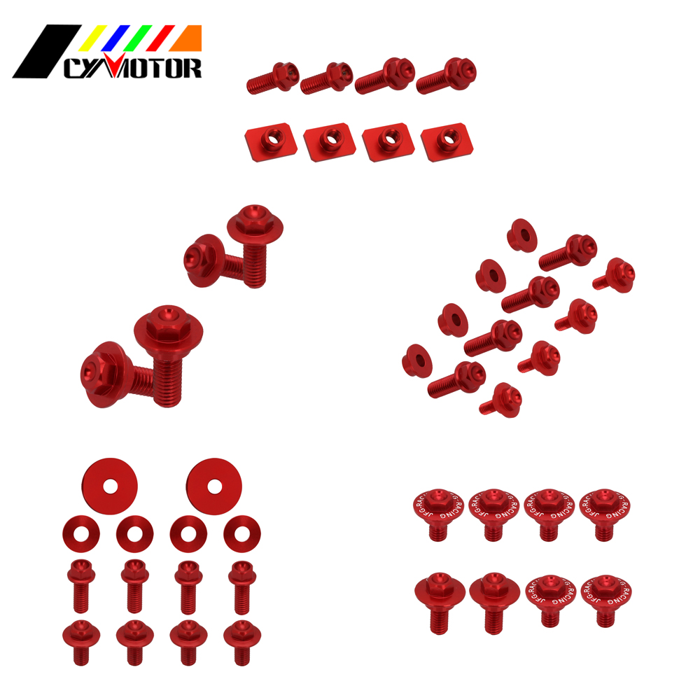 Dirt Bike Motocycle Plastic Body Parts Guard Screw Bolt For Honda <font><b>crf450r</b></font> 2009 <font><b>2010</b></font> 2011 2012 crf250r 10 11 12 13 crf 250r 450r image