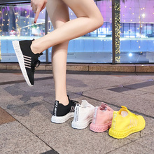 Liren 2019 Summer New Fashion Casual Comfortable Women Vulcanize Shoes for Sport Lace-up Flat Heels Breathable Air Mesh