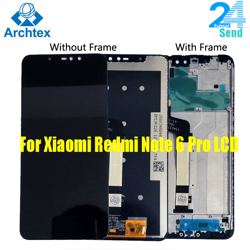 AAA + Für <font><b>Xiaomi</b></font> Redmi Hinweis 6 <font><b>Pro</b></font> LCD Display Bildschirm Touch Montage LCD Digitizer Touchscreen Teile + 10 punkt touch Globale Version image