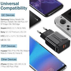 Image 4 - Cargador USB de carga rápida QC3.0, cargador Universal para teléfono móvil, adaptador de pared para iPhone, Samsung, HUAWEI, QC 3,0