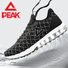 PEAK Running Shoes For Men Black Mesh Lightweight Sneakers Non-slip Wearable Athletic Sports Shoes Air Cushion Jogging Shoes цены онлайн