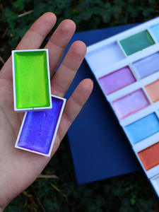 Seamiart Box-Set Paint Watercolor-Pearl-Pigment Drawing-Supplies 24color Glitter Artist
