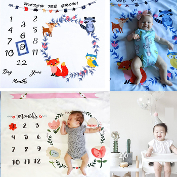 Baby Photography Blanket Props Milestone Receving Background Monthly for Shooting Photo