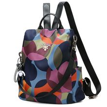 Fashion Brand Design Women Backpack Anti-Theft Nylon Shoulde