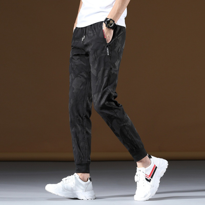 Camouflage Male STUDENT'S Summer Thin Section Viscose Cool Pants Beam Leg Popular Brand Loose-Fit Versatile Casual Sports Pants