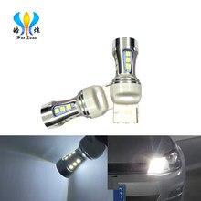 HX 7443 LED CANBUS No Error 7443 T20 W21W bombilla LED para 2009-2016 Fiat 500 luces diurnas 6000K blanco amarillo rojo 12V 12V 12V 12V