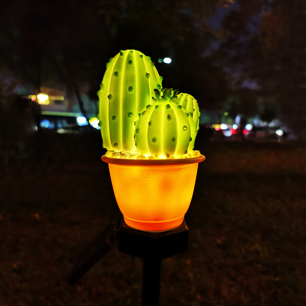 LED Solar Light Outdoor Waterproof Plant Style Solar Lithium Battery Powered Buried Garden Roadside Lawn Decoration Solar Lights