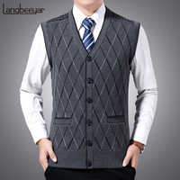 2020 New Fashion Brand Sweaters Men Pullovers Vest Sleeveless Slim Fit Jumpers Knitwear Autumn Korean Style Casual Clothing Male