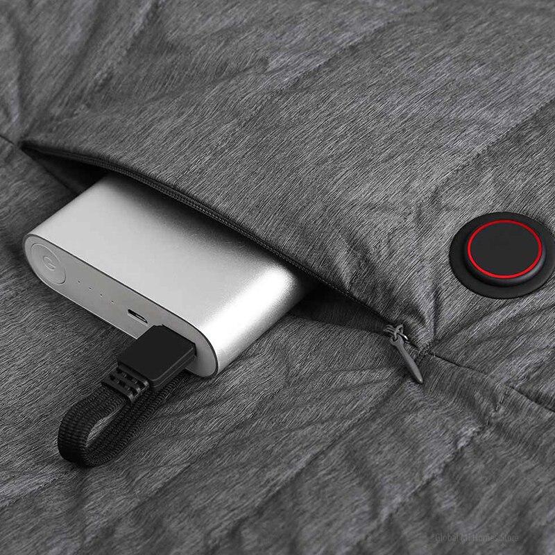 Xiaomi Mijia graphène contrôle intelligent de la température fièvre duvet d'oie gilet couple modèles 4 fichiers contrôle de la température - 6