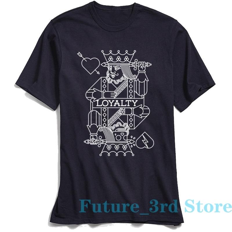 LOYALTY T Shirt Men Poker King Print T-shirt Cheap Sleeve 100% Cotton Crewneck Tees Custom Top Tshirt Lovers Day Free Shipping