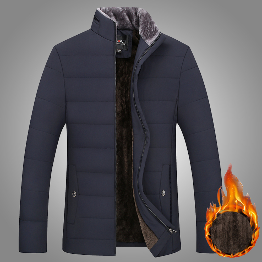 Warm Thick Winter Jacket Men Clothes Casual Stand Collar High Quality Fashion Brand Winter Coat Men Parka Outerwear