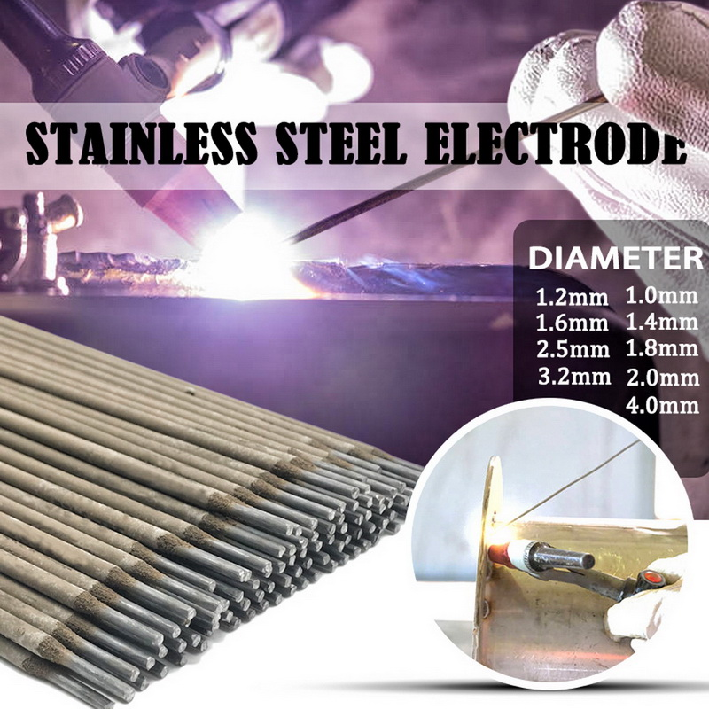 304 Stainless Steel Welding Rod Electrodes Solder For Soldering Welding Wires Diameter 1.0mm-4.0mm No Need Solder Powder