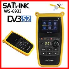 Satlink original WS 6933 localizador de satélite digital, medidor de sat DVB S2 satfinder 2.1 Polegada tela lcd fta c & ku ws 6933 ws6933 dvb s2