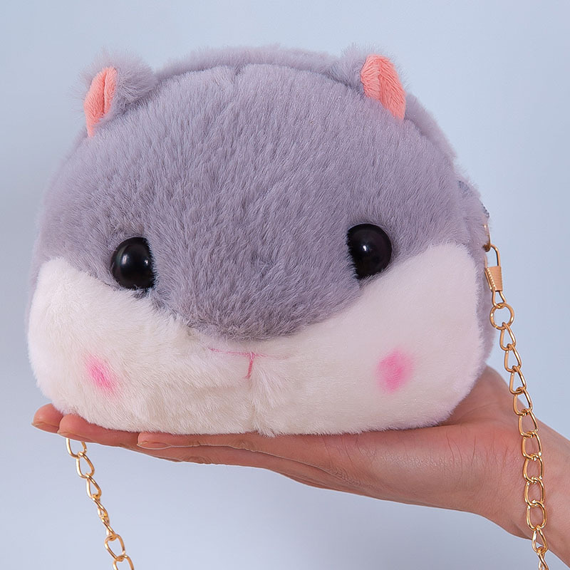 Hamster Backpack Plush Toys Shoulder Diagonal Children's Chain Bag Children's Birthday Gift Stuffed Animals Elfe On The Shelf