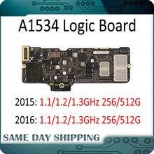 Материнская плата A1534 для ноутбука, 820-00045-A 820-00244-A для MacBook Retina, логическая плата 12 дюймов 256/512 ГБ 1,1/1,2/1,3 ГГц 2015 2016 лет