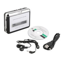 USB Cassette capture Player Tape To PC Super Portable USB Cassette-to-MP3 Converter Capture Audio Music Player 2016 new usb cassette to mp3 converter capture convert tape cassette to mp3 through pc for win7 win8 mac os free shipping page 1