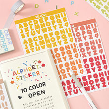 2 Sheets English Letter Stickers For Notebooks Cute Number Sticker Planner Scrapbooking Bullet Journal Stationery Supplies