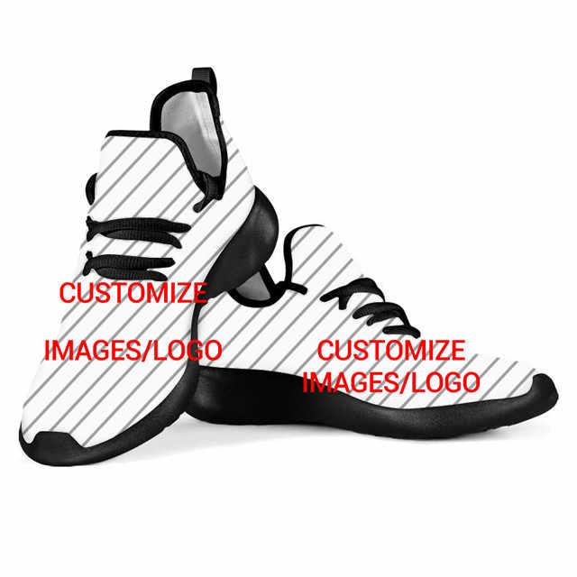 NOISYDESIGNS erkek ayakkabısı Rahat Ayakkabılar Genç Erkekler için Özelleştirmek Size Görüntü/Logo Yumuşak Örgü Ayakkabı Erkek Tenis Masculino
