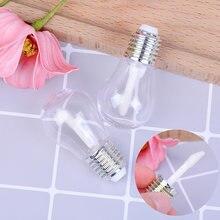 Tube vide rechargeable pour brillant à lèvres et baume, Design d'ampoule de sucette, conteneur de brosse, Mini bouteille rechargeable