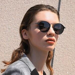 Image 2 - BARCUR الألومنيوم المغنيسيوم Vintage النظارات الشمسية للرجال الاستقطاب نظارات شمسية مستديرة النساء الرجعية النظارات Oculos Masculino