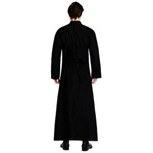 Image 4 - Umorden Disfraz de Pastor religioso para hombre, disfraz de padre para adulto, color negro, fiesta de Halloween, Morado, Mardi Gras