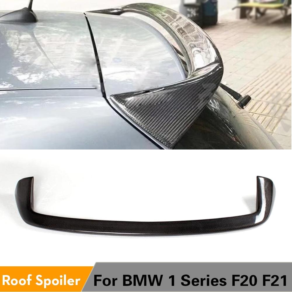 Lèvre d'aile de fenêtre de aileron de toit arrière de Fiber de carbone pour BMW 1 série F20 F21 116i 118i 120i 135i M135i 2012 - 2020 FRP non peint