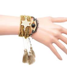 цена Go2boho Delica MIYUKI Bracelet Men Evil Eye Gold Bracelet Women Star Tassel Pulseras Mujer Mode 2019 Crystal Jewelry Handmade в интернет-магазинах