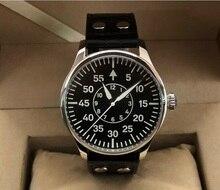 Sapphire Crystal 44Mm Geervo Zwitserland C3 Lichtgevende Japanse NH35A Automatische Mechanische Pilot Mannen Horloge 15 20