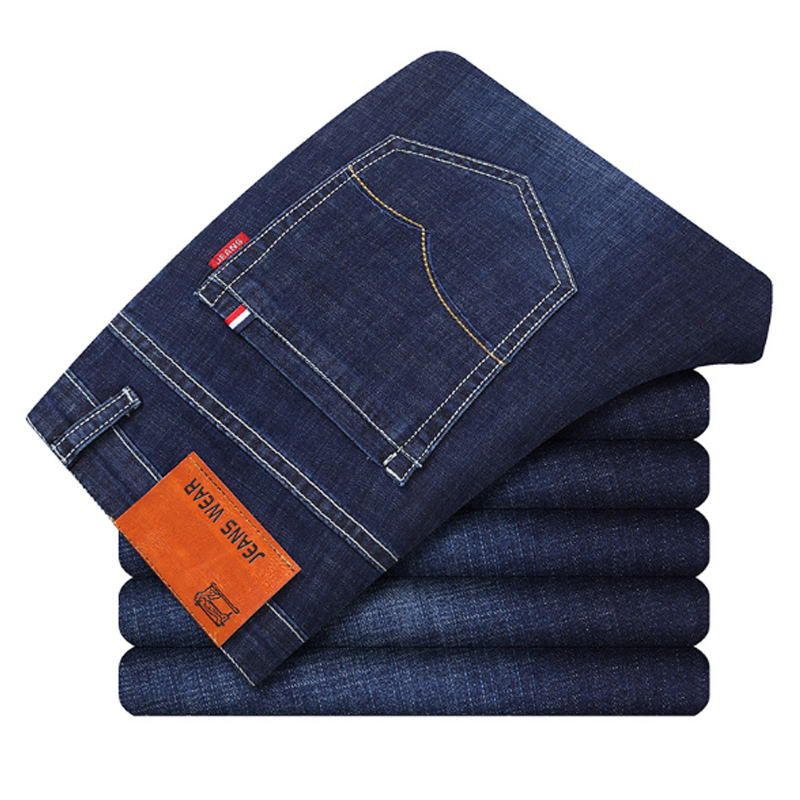 Spring  Summer Pant Business Fashion Long Jeans Stretch Men's Pants Thin Cotton Male Comfortable Boy Breathable Men Refreshing