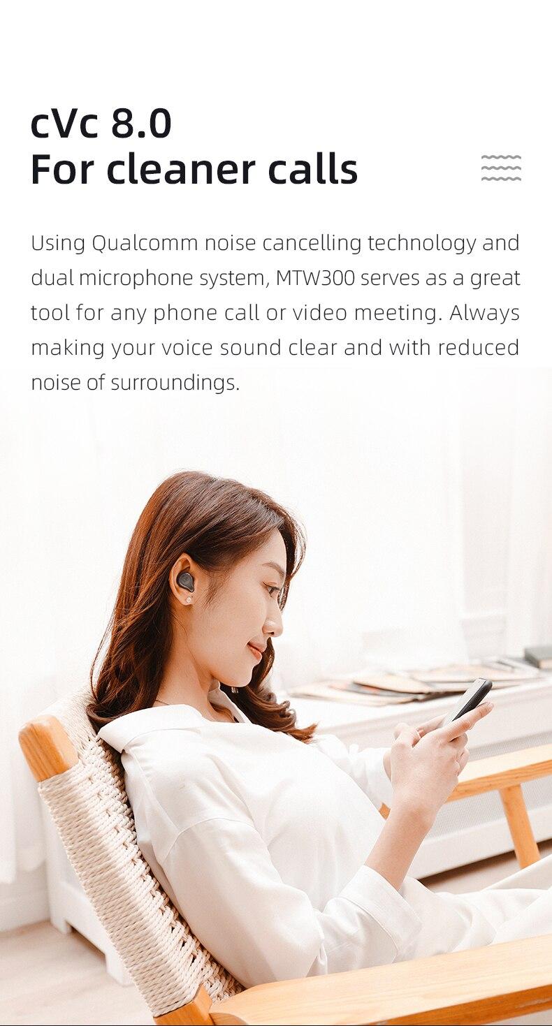 ouvido estéreo sem fio bluetooth 5.2 controles