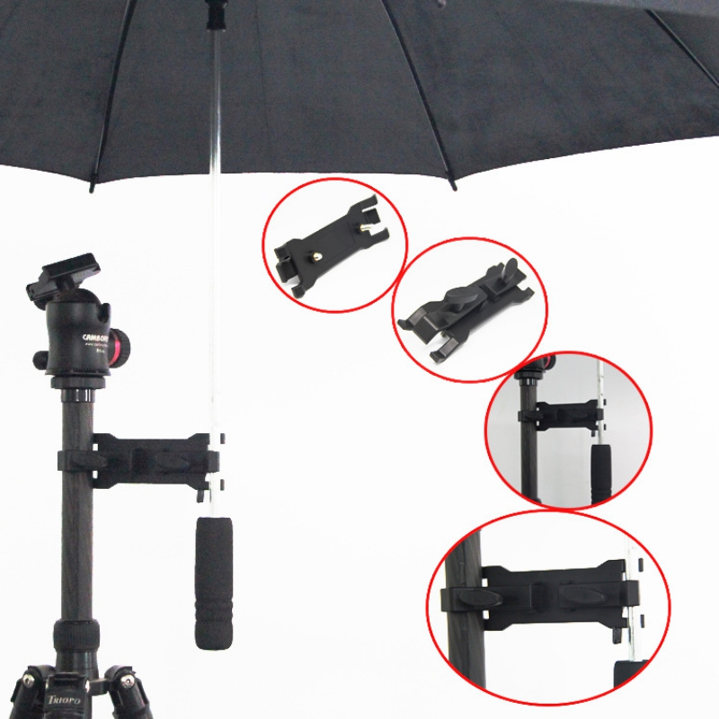 Portable Outdoor Photography Umbrella Holder Clamp Clip Camera Tripod Light Bracket Flash Stand Photo Studio Accessories