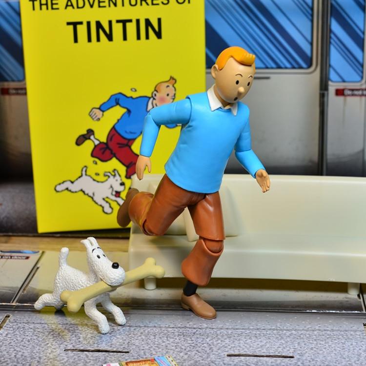 2 Estilos Anime Desenhos Animados 18cm As Aventuras De Tintin Pvc