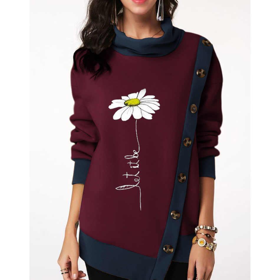 Herbst Winter Hoodies Sweatshirt Frauen 2019 Casual Plus Größe Pullover Brief Drucken Schal Neck Lange Jacken Weibliche Dünne Mantel 6XL