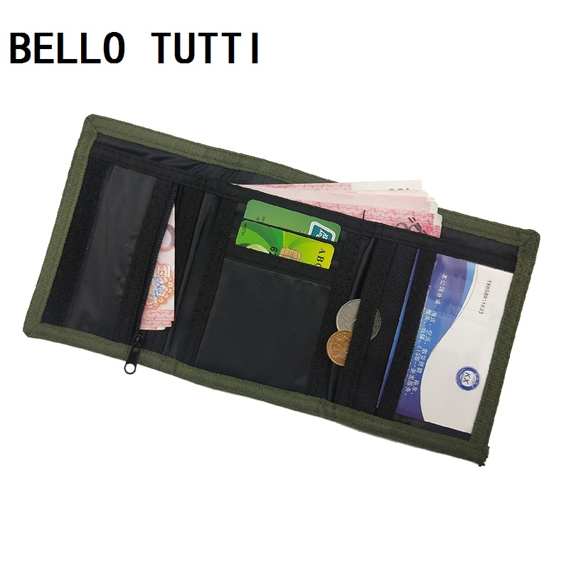 BELLO TUTTI New Canvas Mens Wallets Hasp Purse Male Trifold Short Wallet ID Cards Holder Money Bags Clutch Coin Purse Pocket