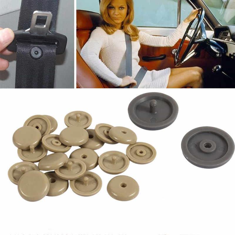 2PCS בטיחות רכב חלקי פלסטיק רכב חגורת בטיחות בטיחות כרית פקק מרווח גבול אבזם קליפ מייצבת חגורת בטיחות להפסיק כפתור