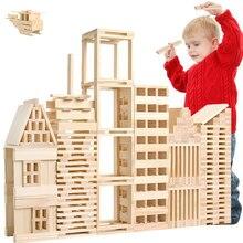 Jouets Montessori pour bébé, 100 pièces, Jenga en bois, blocs de construction pour enfants en bas âge, apprentissage éducatif, formation préscolaire, cadeaux