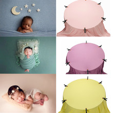 150X160 CM noworodka fotografia rekwizyty tło miękkie tkaniny strzelać Studio akcesoria dziecko pozowanie rama koce wiele kolorów