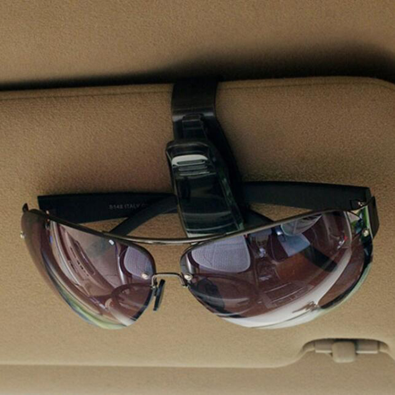 Sunglasses Ticket Holder Car Pen Card Clip Eye Glasses Sun Visor Mount Q