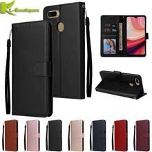 Oppo a12 caso de couro para coque oppo a12 caso na sfor oppo a 12 cph2083 cph2077 capa estilo clássico flip carteira casos de telefone etui