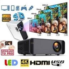 W80 мультимедийный проектор медиаплеер домашний кинотеатр проводное/Беспроводное Зеркало экран 8500LM поддержка 4K HDMI/AV/TF/VGA ЖК-проектор