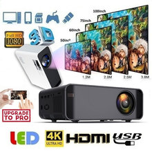W80 Multimedia Projector Media Player Home Cinema Wired/Wireless Mirror Screen Support 4K HDMI/AV/TF/VGA Clear LCD Projector